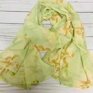 Tommy Bahama Lightweight Iris Floral Scarf